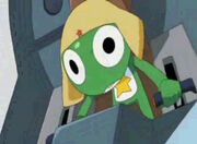 Keroro driving a mecha
