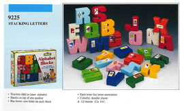 Illco 1992 preschool toys alphabet blocks stacking letters