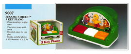 Illco 1992 preschool toys 3 key piano