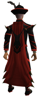 Dragon ceremonial cape equipped