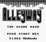 Alleyway Title Screen