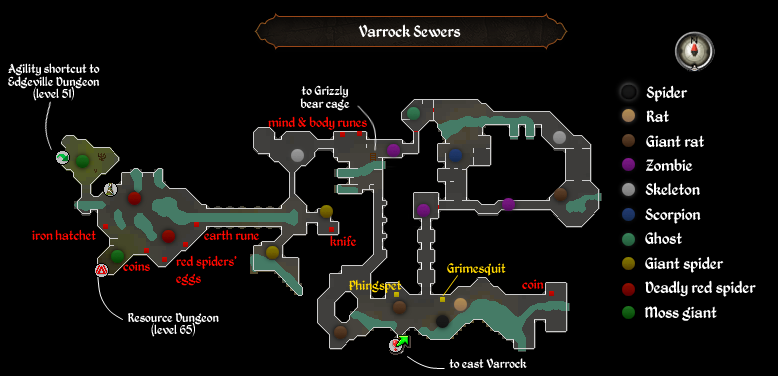 Varrock Sewers map
