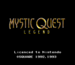 Mystic Quest Legend Title Screen