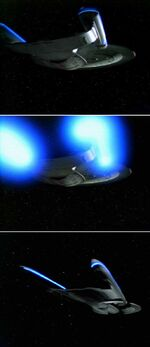 USS Enterprise going to warp sequence by ILM (original footage)