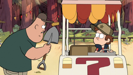 S1e1 soos with shovel