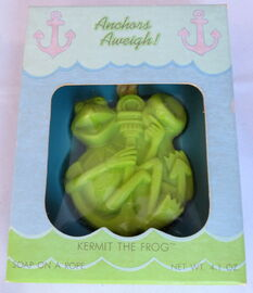 Hallmark 1981 soap anchors aweigh kermit