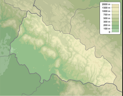 Zakarpattia province physical map