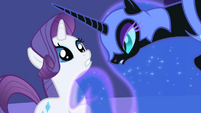 Rarity face to face with Night Mare Moon S1E1