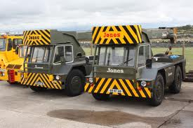 A pair of 1980s JONES IF10 mobilecranes