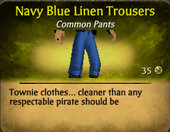Navy blue linen trousers