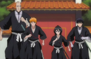 Ichigo and Co. head towards the palace