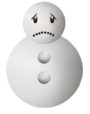 Snowman Sad