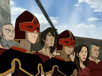Sokka and Zuko as guards
