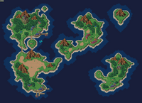 Chrono Trigger world map 1000 AD