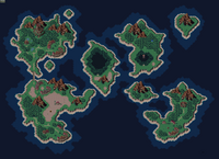 Chrono Trigger world map 600 AD
