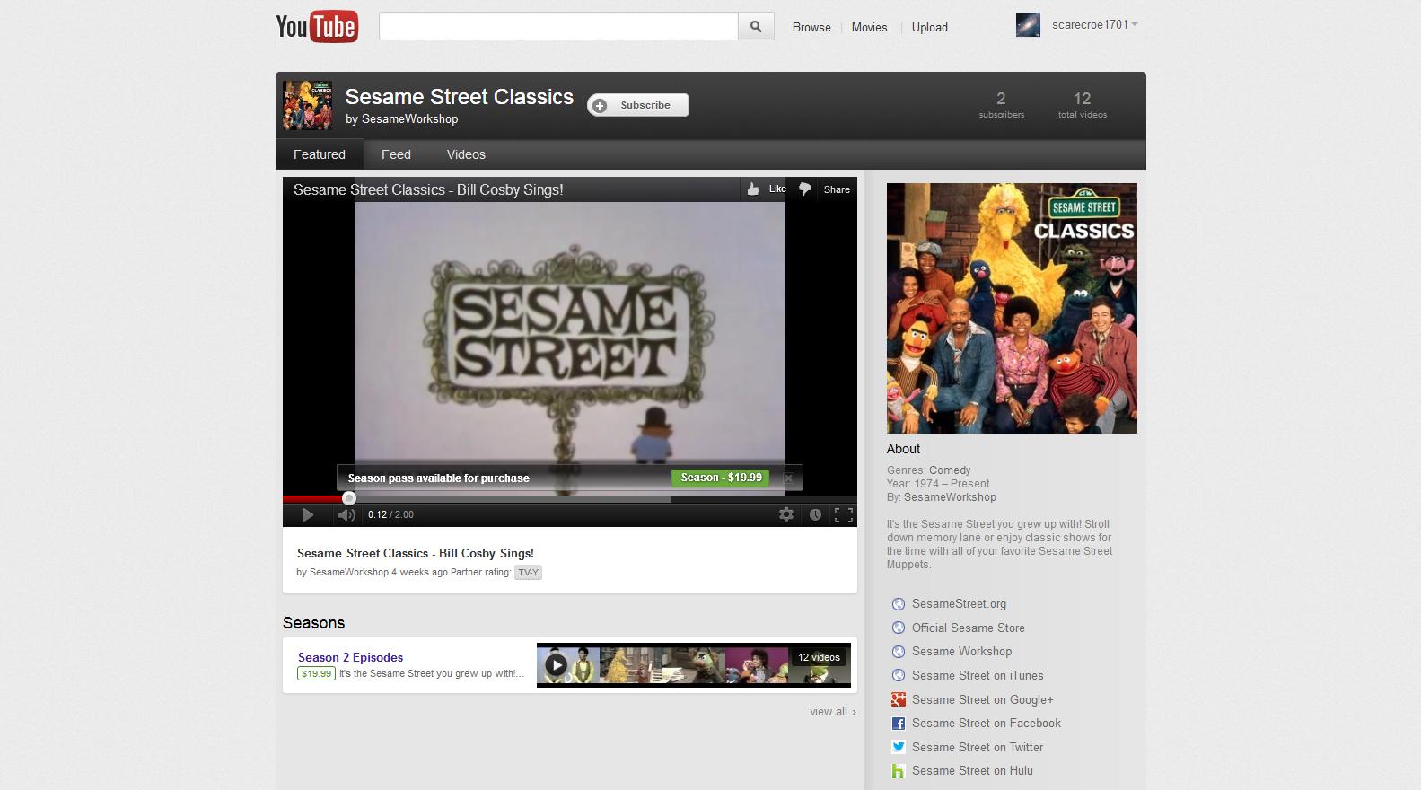 Youtube channel sesame street sesamestreet sesame street counting the