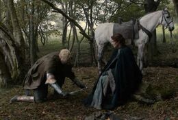 Brienne jura lealtad a Catelyn HBO