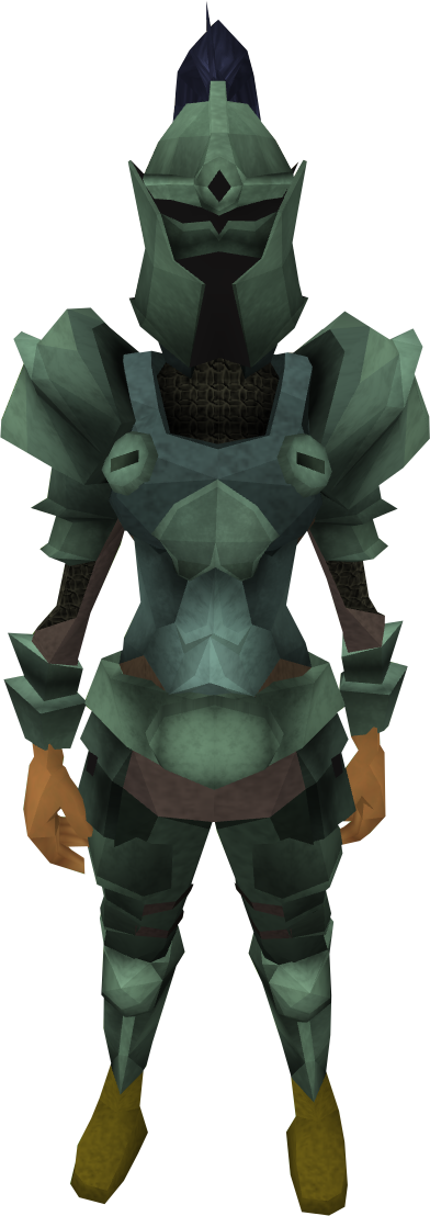 Adamant armour set (lg) equipped