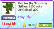 Butterfly Topiary Market Info (July 2012)