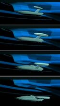 Sovereign class Captain's Yacht Cousteau animatics deployment sequence