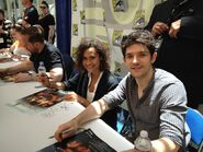 Angel Coulby and Colin Morgan Comic Con 2012