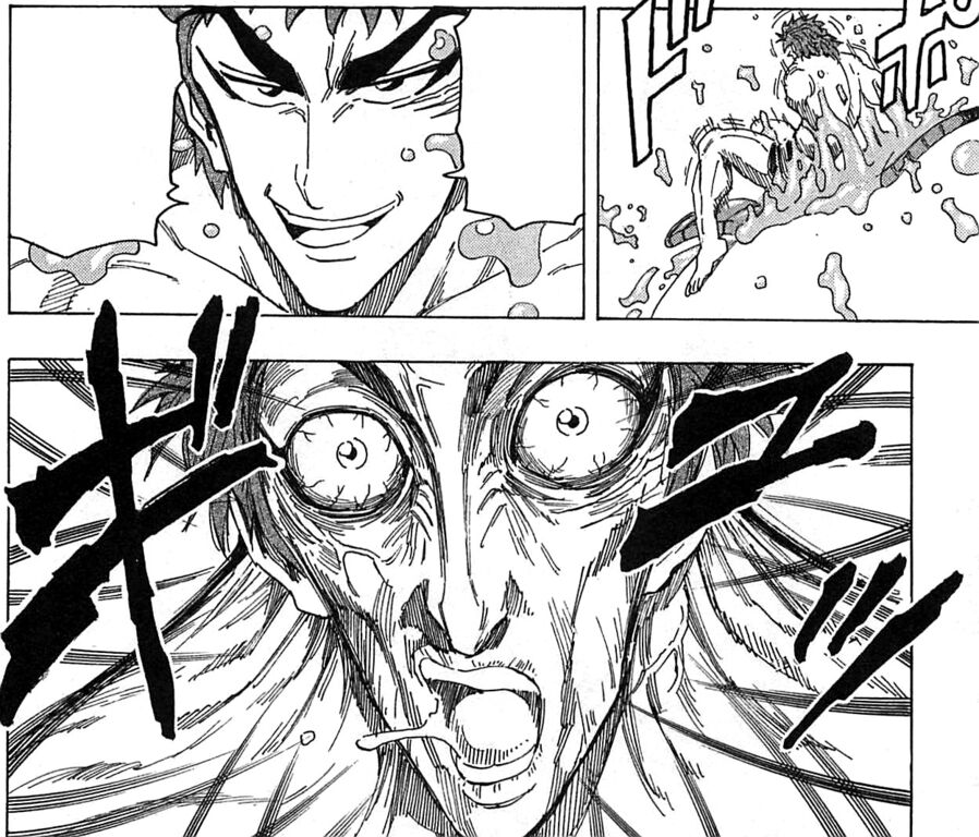 Toriko Surrounded By Bugs Jpg: Toriko Getting Out Of The Healing Jelly.jpg
