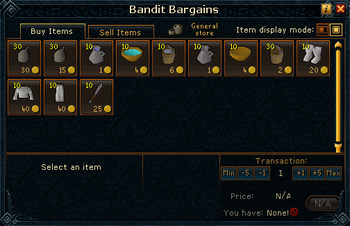 Bandit Bargains stock