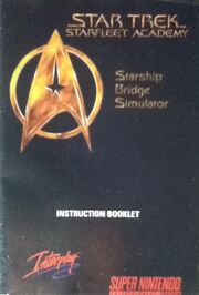 Starfleet Academy Starship Bridge Simulator (SNES book)