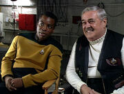 LeVar Burton and James Doohan