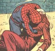 Peter Parker (Earth-616) and George Stacy (Earth-616) dying