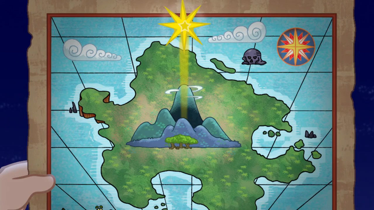 Jake And The Neverland Pirates Cubbys Map Never Star - Ja...