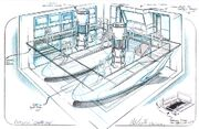 Launch bay for NX class (concept sketch)