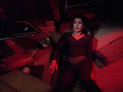Troi trapped in crashed shuttle