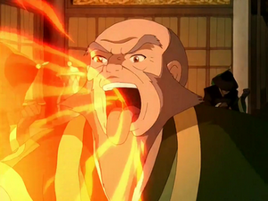 Iroh&#39;s fire breath