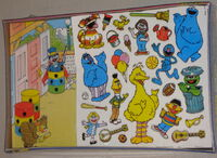 Colorforms 1986 big bird play set 2