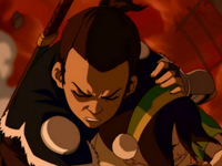 Sokka protecting Toph