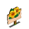 Yellow Hibiscus Mastery Sign-icon