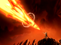 Aang&#39;s enhanced firebending