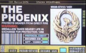 Label fire bird