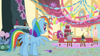 Rainbow Dash meeting Pinkie S1E25