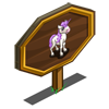 Purple Unicorn Foal Mastery Sign-icon