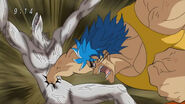 Toriko hitting Nitro with Speed of Sound Kugi Punch