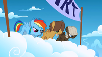 Filly Rainbow Dash and the colts on the starting line S1E23