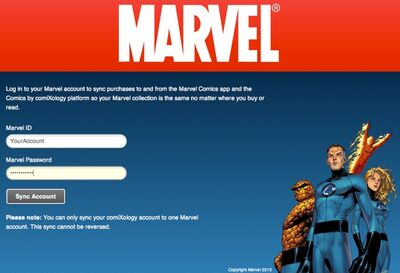 Comixology - Marvel Sync