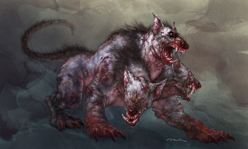Cerberus Three-Headed Dog Greek Mythology