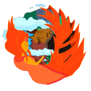 Flame princess firefox icon