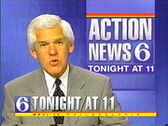 WPVI-TV's Channel 6 Action News Tonight Video ID From Early 1997
