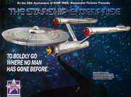Franklin Mint 25th Anniversary USS Enterprise ad