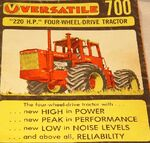 Versatile 700 brochure