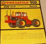 Versatile 900 brochure